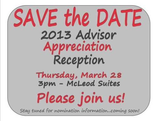 advisor appreciation save date